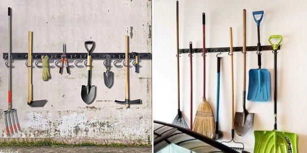 Товары для наведения порядка в гараже: Настенный держатель