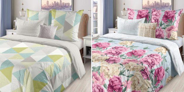 Постельное бельё с AliExpress: комплекты с геометрическими и цветочными принтами