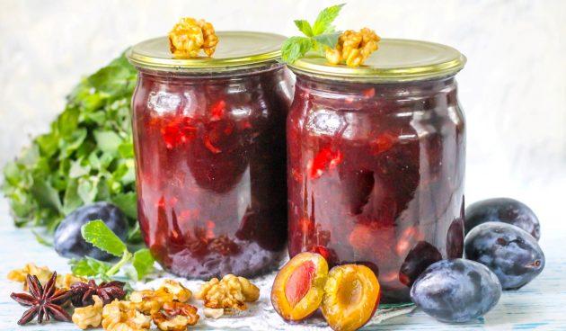Варенье из слив с грецкими орехами