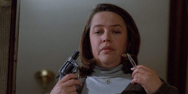 Кадр из фильма ужасов, получившего «Оскар», «Мизери»