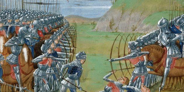 Мифы о средневековых сражениях: битва лучников со всадниками в доспехах