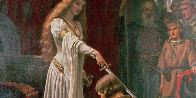 «Акколада», то есть посвящение в рыцари