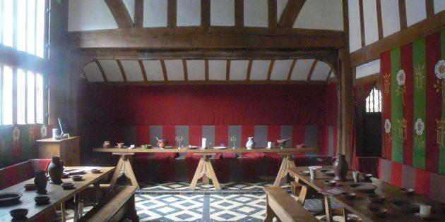 Мифы о средневековых замках: большой зал в замке Барли-Холл, Йорк, Англия