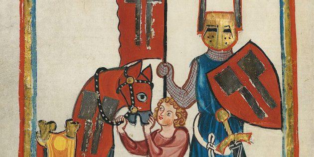 Средневековые рыцари сначала были оруженосцами. Вольфрам фон Эшенбах и его оруженосец