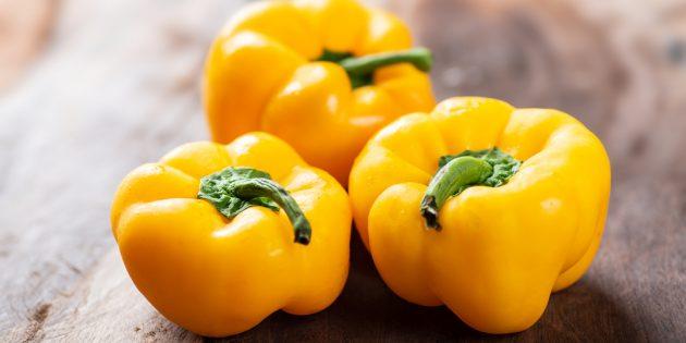 В каких продуктах содержится много витамина С: сладкий жёлтый перец