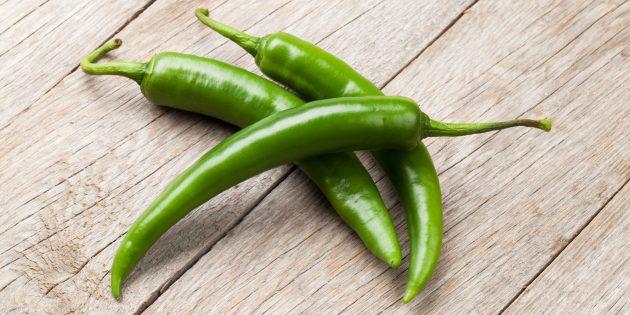 В каких продуктах содержится много витамина С: перец чили