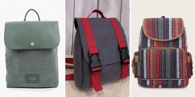 Модные рюкзаки — 2021из экоматериалов