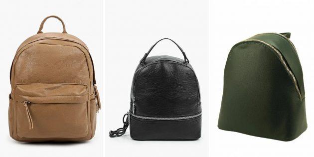 Модные рюкзаки — 2021из гладкой экокожи
