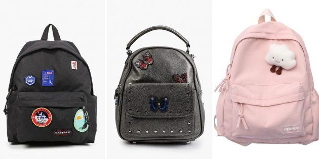 Модные рюкзаки — 2021 с крупными аппликациями