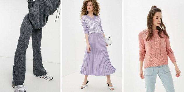 Женская мода осени-зимы 2021–2022: вязаные вещи