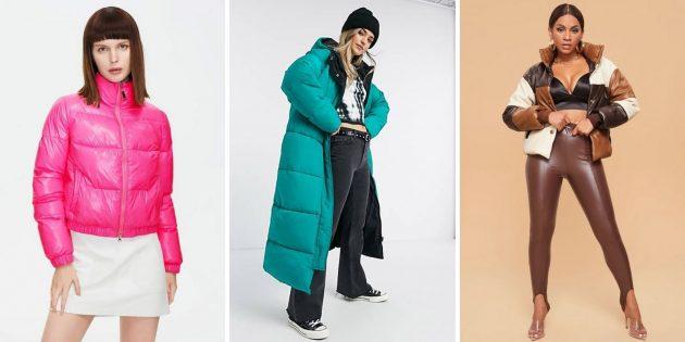 Женская мода осени-2021: пуховики