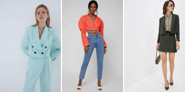 Женская мода зимы — 2021–2022: укороченные жакеты