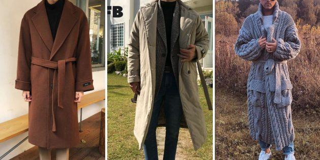 Мужская мода осени-зимы 2021–2022: пальто-халат