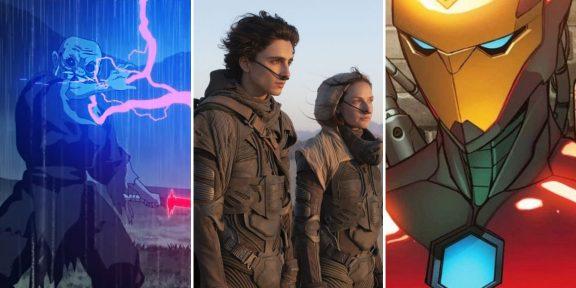 Главное о кино за неделю: ранний релиз «Дюны», аниме по «Звёздным войнам» и не только