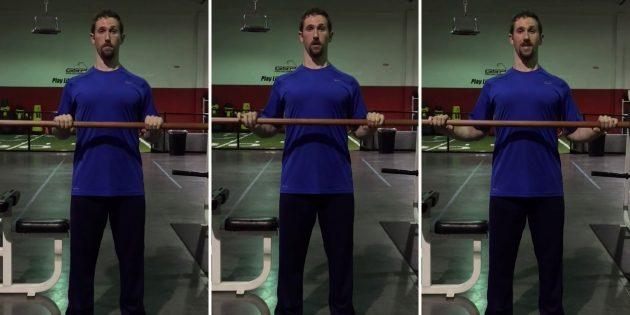 Силовые тренировки: ошибка — положение плеч при использовании разных хватов