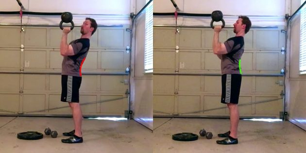 Силовые тренировки: ошибка — округление верха спины во время жима с груди