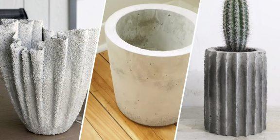 Как сделать вазон из бетона своими руками