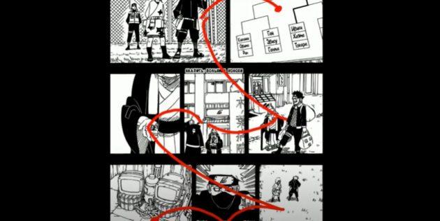 Как правильно читать мангу: порядок панелей
