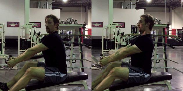 Силовые тренировки: ошибка — увеличение диапазона движения во время тяги к животу