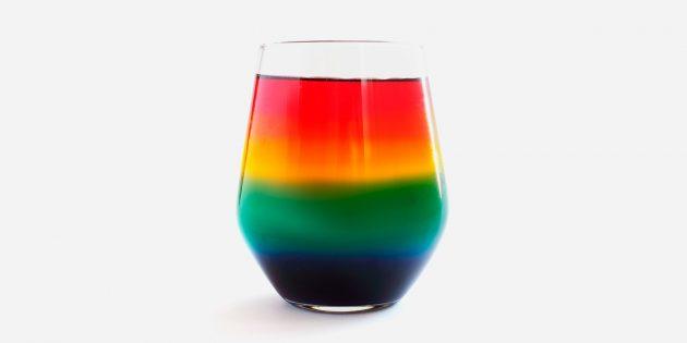 Химические опыты для детей: радуга в стакане