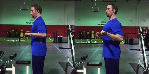 Силовые тренировки: ошибка — сведение локтей без внимания к плечам и лопаткам