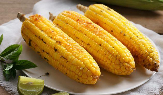 Запечённая кукуруза с мёдом