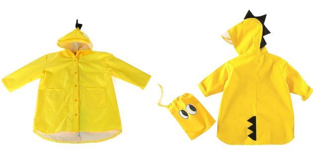 Детский дождевик с мешком для хранения