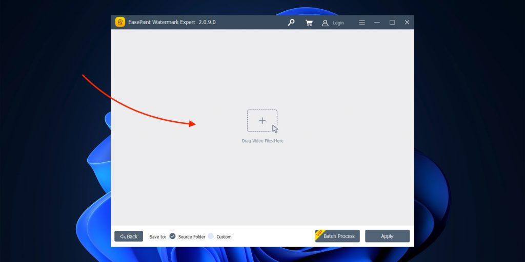 Как убрать водяной знак с видео в Windows: перетащите файл
