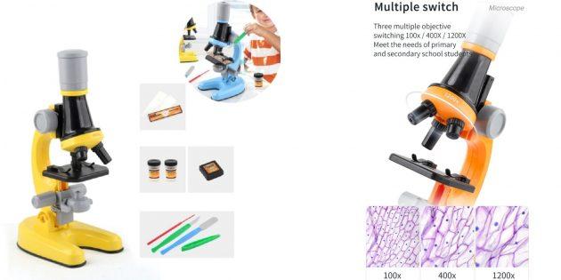 Микроскоп с цветным корпусом