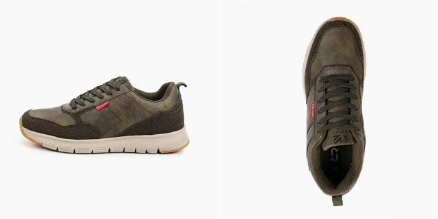 Мужские кроссовки из искусственной кожи