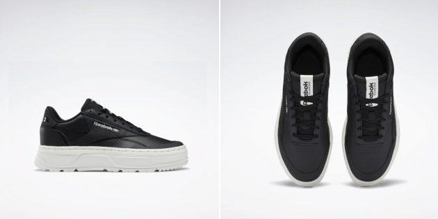 Женские кроссовки с контрастной подошвой