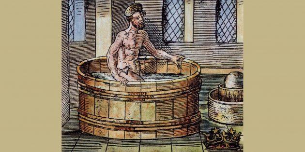 Сомнительно, что Архимед открыл закон плавучести, когда купался в ванной