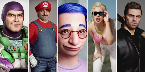 Художник показал реалистичные модели героев мультфильмов и игр: 16 изображений