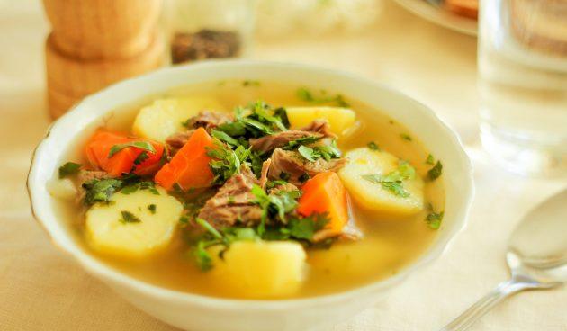Простой суп с бараниной