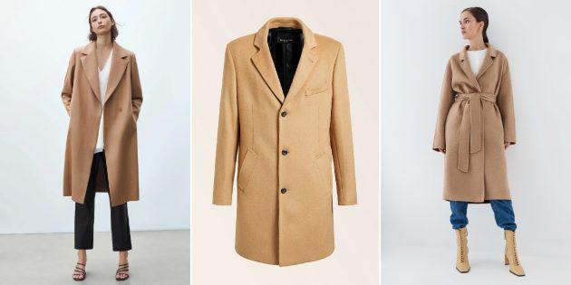 Модные пальто осени-2021: пальто в цвете camel