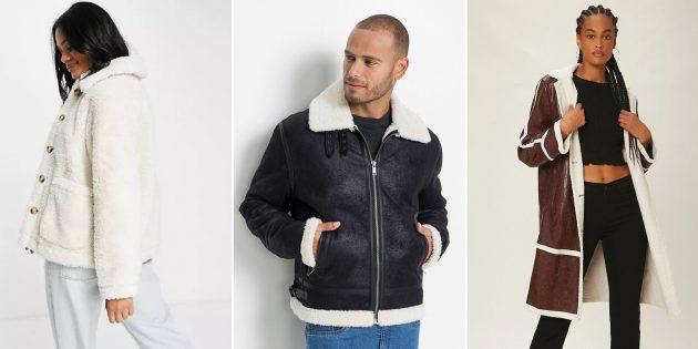 Модные куртки и пальто: верхняя одежда из искусственной овчины