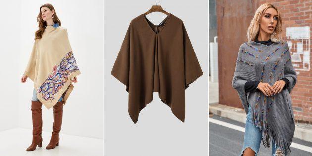 Модные куртки осени-2021: пончо