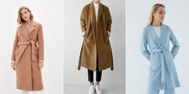 Модные пальто осени-2021: пальто-халаты