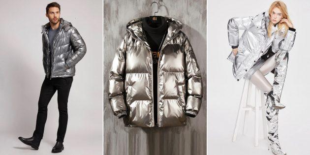 Модные куртки осени-2021: модели в цвете металлик