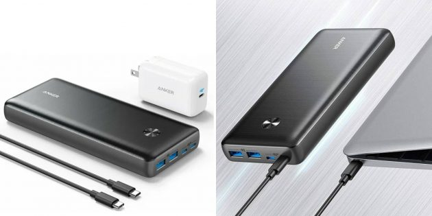 Внешние аккумуляторы для ноутбуков: Anker PowerCore III Elite