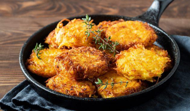 Картофельные драники с начинкой из куриного фарша