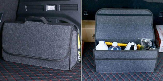 Органайзеры в машину: сумка в багажник