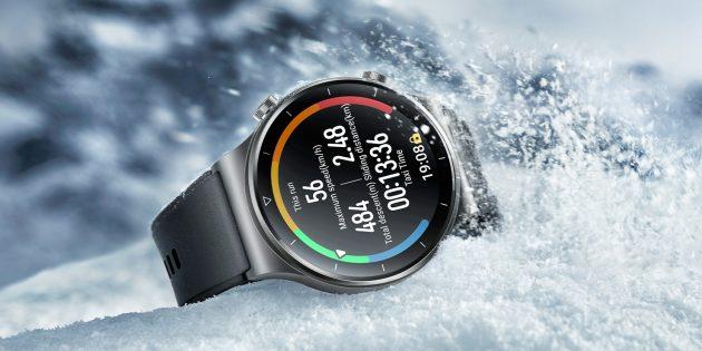 Смарт-часы Huawei Watch GT 2Pro — это контрастный и яркий дисплей