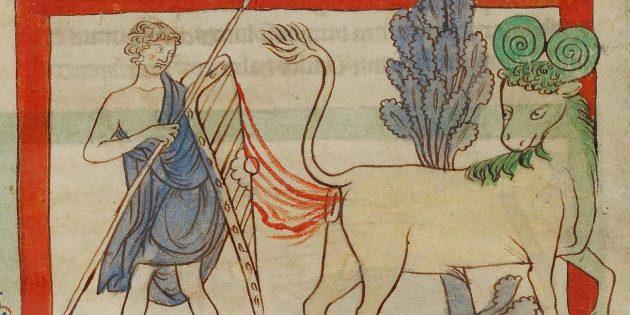 Во что верили в Средневековье: существует бык, испускающий огненные кишечные газы