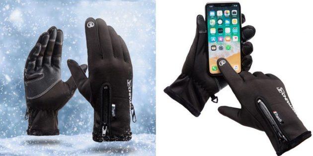Утеплённые перчатки