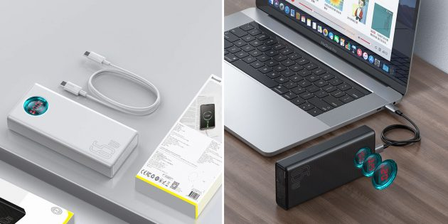 Внешние аккумуляторы для ноутбуков: Baseus 65W PD Power Bank