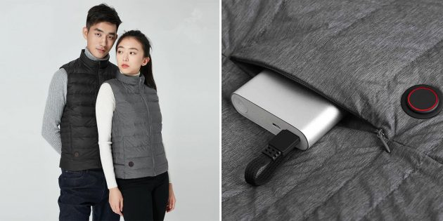 Куртки и жилеты с подогревом: Жилет Xiaomi Graphene