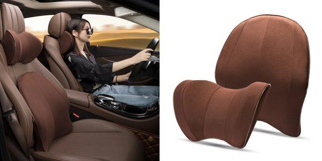 Ортопедические автомобильные подушки: комплект для поясницы и шеи Seeonka