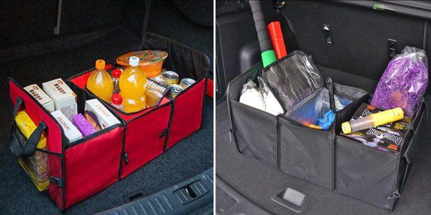 Органайзеры в машину: складная сумка для багажника