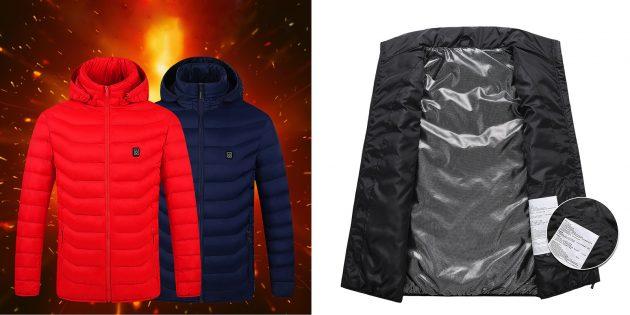 Куртки и жилеты с подогревом: Куртка с графеновым нагревательным элементом